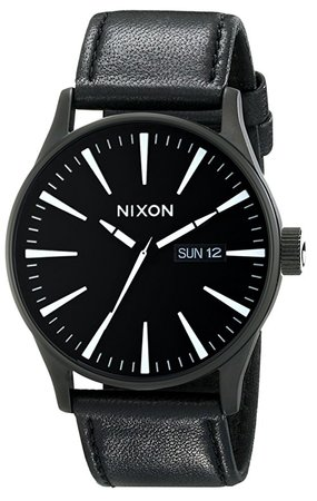 Nixon Mens Sentry Leather Watch A105