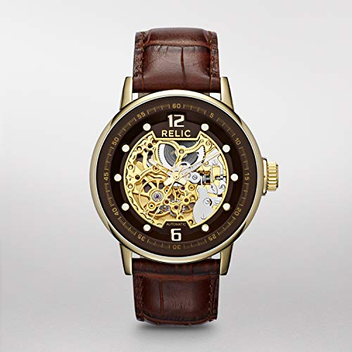 Relic by Fossil Mens Damon Automatic Skeleton dial