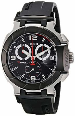 Tissot Mens T0484172705700 T-Race Black Chronograph Dial Watch