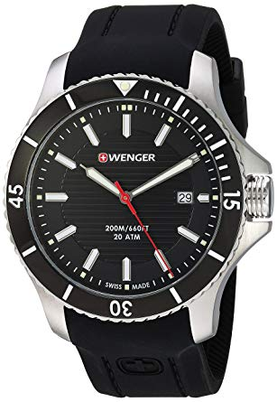 Wenger Mens 0641.102 Sea Force 3H Analog Display Swiss