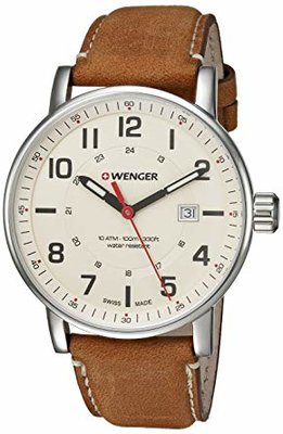 Wenger Mens Attitude Outdoor Swiss Leather Casual Watch
