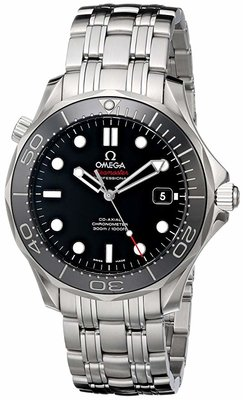 Omega Mens Seamaster Black Dial Watch