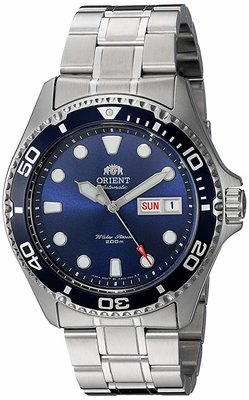 Orient Mens Ray II Automatic Stainless Steel Diving Watch